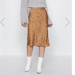 NWT Pebbled satin midi skirt